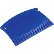 Eiskratzer Mini, Kunststoff, L 88 x B 59 x H 5 mm, Einkerbung zur Reinigung Scheibenwischergummi, blau + Werbedruck