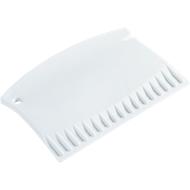 Eiskratzer Mini, Kunststoff, L 88 x B 59 x H 5 mm, Einkerbung zur Reinigung Scheibenwischergummi, weiß + Werbedruck