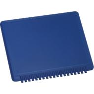 Eiskratzer Viereck, aus Kunststoff, blau