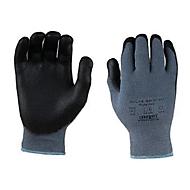 Elastaan/polyester gebreide handschoen Polartex, met nitril microschuimcoating, 12 paar, m. L