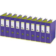 ELBA Ordner myColour, DIN A4, Rückenbreite 80 mm, 10 Stück, violett/hellgrün
