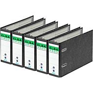 ELBA ordner rado, A5 liggend, 75 mm, karton, wolkenmarmer, 5 stuks