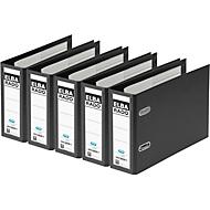 ELBA ordner rado plast, A5 liggend, rugbreedte 75 mm, Karton PVC, zwart