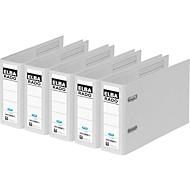 ELBA Ordner rado plast, DIN A5 quer, Rückenbreite 75 mm, Karton PVC, weiß