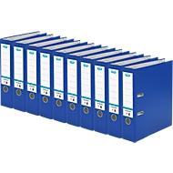 ELBA Ordner smart, DIN A4, Rückenbreite 80 mm, 10 Stück, blau