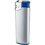 Elektronik-Feuerzeug, mit Kindersicherung, silber/blau