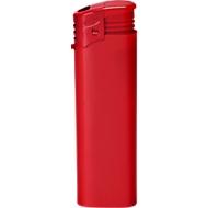 Elektronik-Feuerzeug, piezoelektronische Zündung, nachfüllbar, mit Kindersicherung, rot