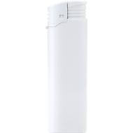 Elektronik-Feuerzeug, piezoelektronische Zündung, nachfüllbar, mit Kindersicherung, weiß