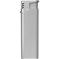 Elektronik-Feuerzeug Turbo, piezoelektronische Zündung, silber