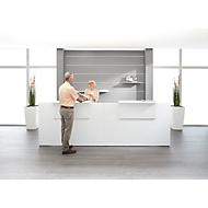 Empfangstheke Come-In, 2 Ablage, gerade, Breite 3200 mm, weiß/weiß