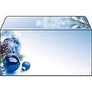 Envelop met kerstthema Sigel Blue Harmony, lang, 90 g/m², 50 stuks