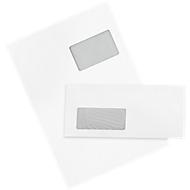 Enveloppen, staand, 250 stuks + verzendenvelop C4, 250 stuks SET, m. venster