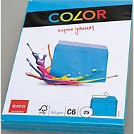 Enveloppes couleur, C6, bleu, 25 pièces