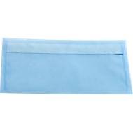 Enveloppes de couleurs translucides type parchemin, 110 x 220 mm (DL), bleu ciel, 10 pièces