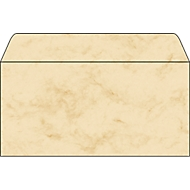 Enveloppes Marmor, beige, 50 pièces