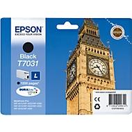 Epson inkjet Epson C13T70314010|T7031 Inktcartridge zwart, 1.200 Paginas ISO/IEC 24711 voor Epson WP 4...
