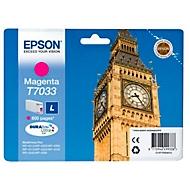 Epson inkjet Epson C13T70334010|T7033 Inktcartridge magenta, 800 Paginas ISO/IEC 24711 voor Epson WP 4...