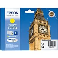 Epson inkjet Epson C13T70344010|T7034 Inktcartridge geel, 800 Paginas ISO/IEC 24711 voor Epson WP 4015...