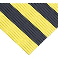 Ergonomischer Läufer, 10 m Rolle, 1000 mm breit, schwarz/gelb