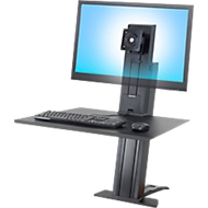 Ergotron WorkFit-SR, 1 écran, bureau/poste de travail assis-debout, noir