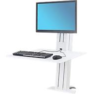 Ergotron WorkFit-SR, 1 Monitor, Sitz-Steh-Schreibtisch-Arbeitsplatz, weiß