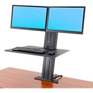 Ergotron WorkFit-SR, deux écrans, bureau/poste de travail assis-debout, noir