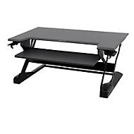 Ergotron zit-sta-bureautafel WorkFit-TL, in hoogte verstelbaar, afmetingen B 950 x D 640 mm, zwart