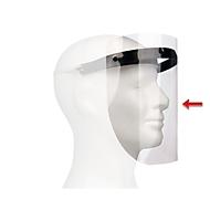 Ersatz-Visierfolie für größenverstellbare Gesichtsschutzmaske, 210 x 297 mm, Polyester, glasklar, 10 Stück