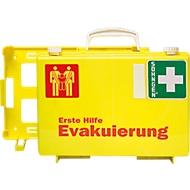 Erste Hilfe Koffer Evakuierung, mit 1 Rettungssitz, auffällige Farbkombination