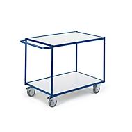 ESD-Tischwagen mit waagerechten Schiebebügeln, 2 Etagen, 790 x 490 mm