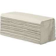 Essuie-mains enchevêtrés, 1 épaisseur, pliage en Z, blanc naturel, 5000 feuilles
