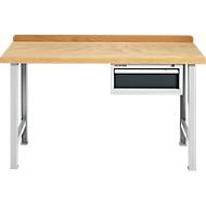 Établi modulaire, avec tiroir depuis la plaque de travail et 2 bases de table, largeur 1500