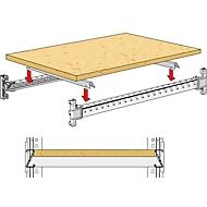 étagères en bois, encastrées largeur 1282 mm