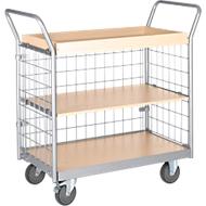 Etagewagen, 3-zijdig rooster, 3 etages, draagvermogen 200 kg
