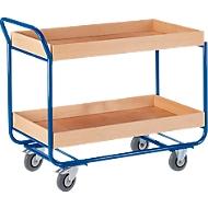 Etagewagen, met hoge rand, 2 etages, 25 kg