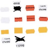 Etiketten, voor prijstangen, wit, 10 rollen