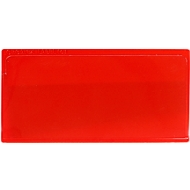 Etikettenhoes Label PLUS, magnetisch, 80x160, rood