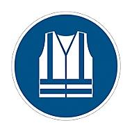 Étiquette de sécurité Durable 3 pc., autocollante, motif «Utiliser une veste de sécurité»