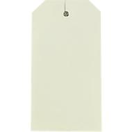 Étiquettes américaines pour carton, avec œillet, 80 x 50 mm, par 1000 pièces