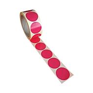Étiquettes rondes Ø 40 mm, en rouleau de 500 pièces, rose fluo