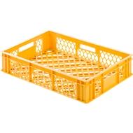 Euro Box Bäcker-Kasten, lebensmittelecht, Inhalt 25,3 L, durchbrochene Version, gelb-orange