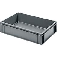 Euro Box Bäcker-Kasten, lebensmittelecht, Inhalt 25,8 L, geschlossene Version, grau