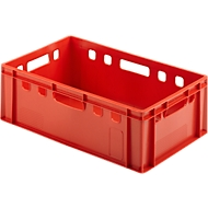 Euro Box Fleischkasten, lebensmittelecht, Inhalt 35,3 L, geschlossene Version, rot