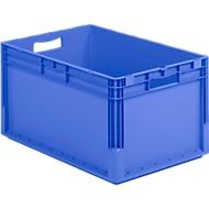Euro Box Leichtbehälter ELB 6320, aus PP, Inhalt 64 L, ohne Deckel, blau