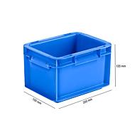 Euro Box Serie EF 2120, aus PP, Inhalt 1,9 L, geschlossene Wände, Unterfassgriff, blau