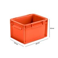 Euro Box Serie EF 2120, aus PP, Inhalt 1,9 L, geschlossene Wände, Unterfassgriff, rot