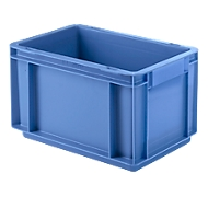 Euro Box Serie EF 3170, aus PP, Inhalt 6,5 L, geschlossene Wände, Durchfassgriff, blau