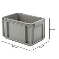 Euro Box Serie EF 3170, aus PP, Inhalt 6,5 L, geschlossene Wände, Unterfassgriff, grau