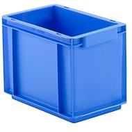 Euro Box Serie EF 3220, aus PP, Inhalt 9 L, geschlossene Wände, Durchfassgriff, 9 l, blau
