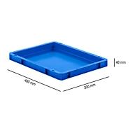 Euro Box Serie EF 4040, aus PP, Inhalt 3,6 L, geschlossene Wände, Unterfassgriff, blau
